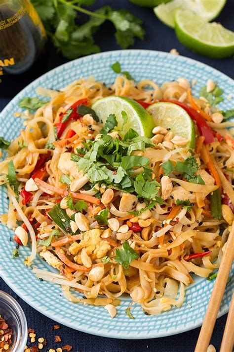 chicken pad thai recipe chicken pad thai cooking classy