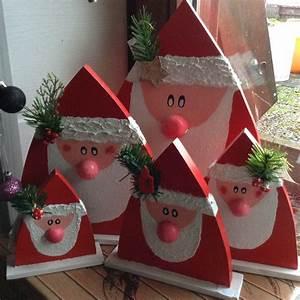 Weihnachtsmann Basteln Aus Pappe : weihnachtsm nner nikol use aus holz weihnachten ~ Haus.voiturepedia.club Haus und Dekorationen