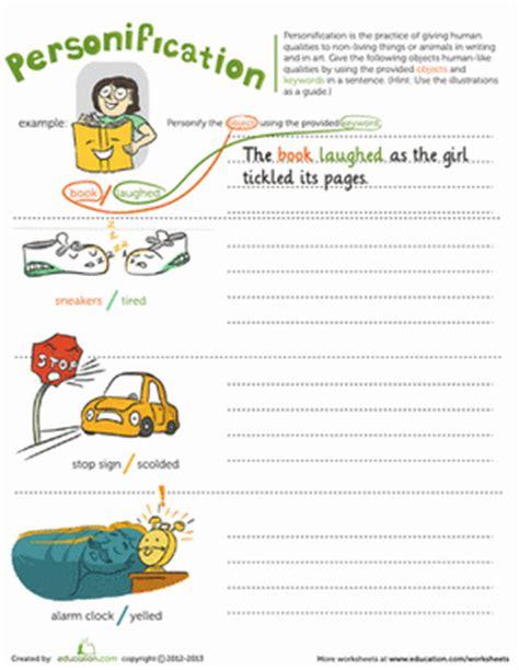 Personification  Worksheet Educationcom