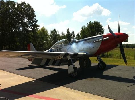 commemorative air force p  mustang red nose eaa