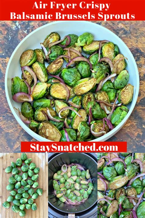 sprouts air fryer brussels crispy balsamic fried roasted recipe brussel recipes frozen cooking cook staysnatched long vinegar sprout