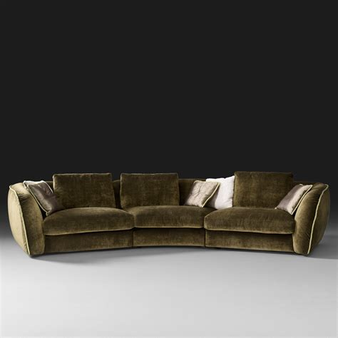 modular sofa curved designer velvet modular sofa
