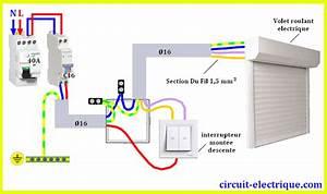 Interrupteur Volet Roulant : branchement volet roulant electrique circuit electrique ~ Melissatoandfro.com Idées de Décoration