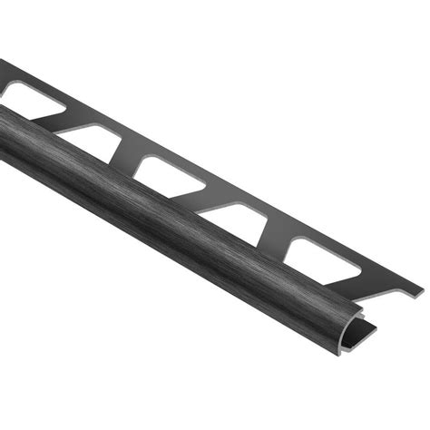 schluter rondec brushed black anodized aluminum 3 8 in x