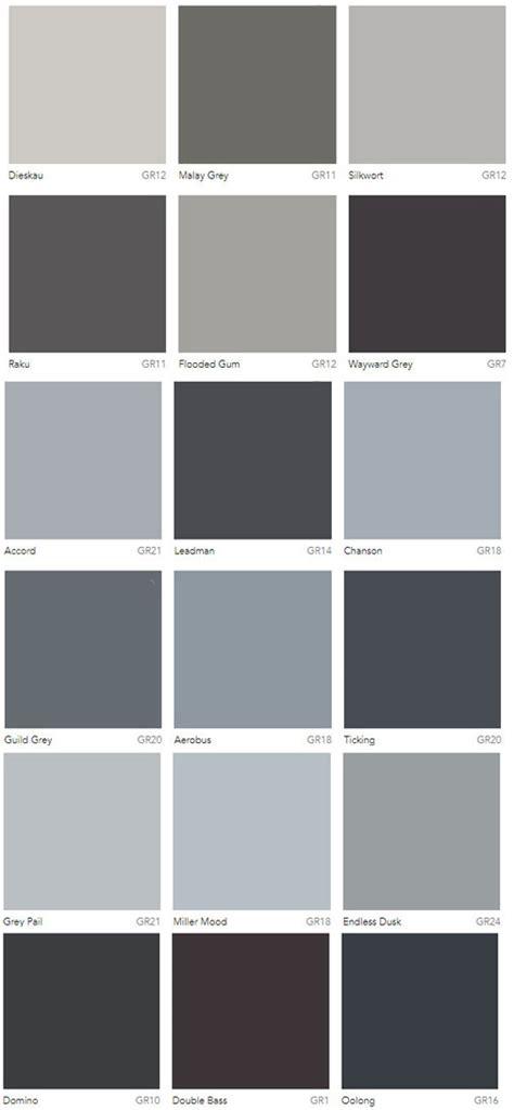 grey colour charts dulux australia interiors  color
