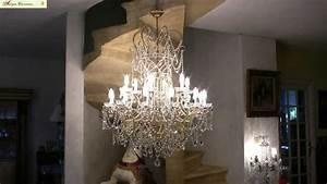 Lustre Pampilles Cristal : lustre pampilles en cristal de boh me youtube ~ Teatrodelosmanantiales.com Idées de Décoration