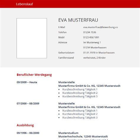 Lebenslauf Muster Vorlage Kostenlos by Vorlage Rot Tabellarischer Lebenslauf