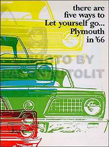 1966 Plymouth Repair Shop Manual Reprint