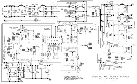 compaq ordinateur de bureau 200w atx pc power supply