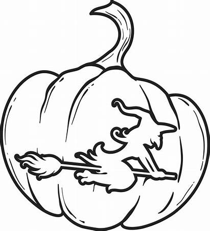 Pumpkin Coloring Printable Halloween Witch Pages Sheets