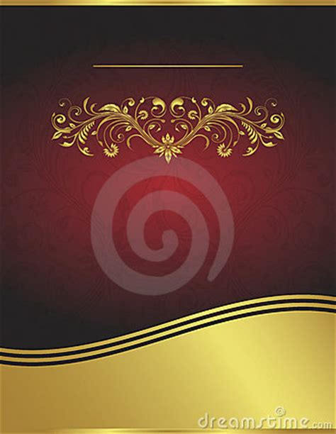 elegant vector red  gold background template royalty