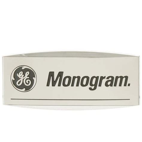 general electric replacement badge monogram part wbx hd supply