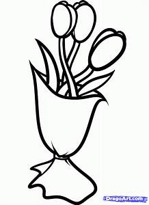 How to Draw Mothers Day Flowers, Step by Step, Flowers ...