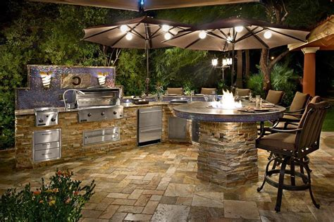enjoy cooking     outdoor stone kitchen