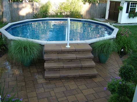 Small Above Ground Pools For Small Backyards by 16 Spectacular Above Ground Pool Ideas You Should