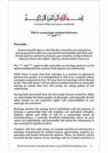 33 marriage contract templates standart islamic jewish for Muslim will template