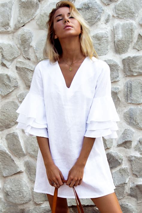 Marni Linen Dress White Palm Collective