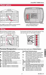 Honeywell Visionpro Th8000 Series Installation Manual 1003127 User