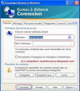 connection bureau distance maintenance informatique pc ordinateur cours gratuit