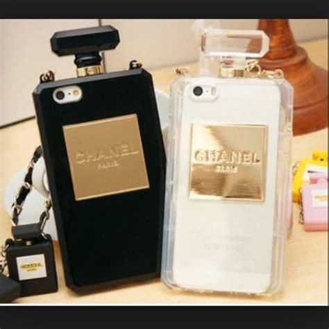 chanel iphone 5s case accessories nib chanel iphone 55s perfume case poshmark Chane
