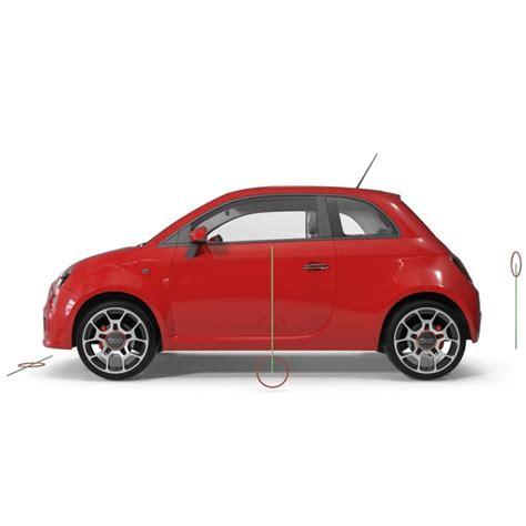 Fiat 2014 Models by Fiat Convertible 500 2014 3d Model
