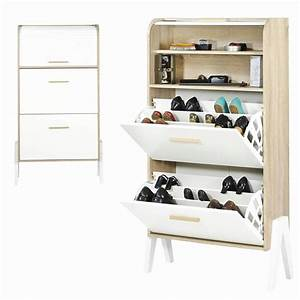 meuble chaussure blanc maison design wibliacom With meuble a chaussure maison
