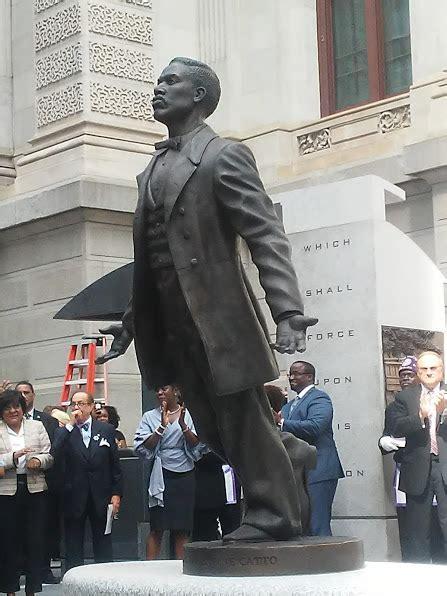 statue  honor octavius  catto erected