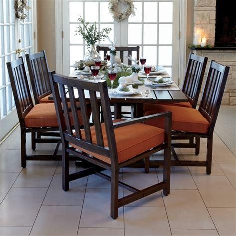 woodard woodlands patio dining set for 6 wd woodlands set3