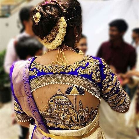 exclusive saree blouse designs   south indian