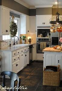 kitchen white cabinets gray walls wall color benjamin With kitchen colors with white cabinets with beach signs wall art