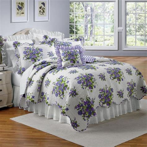 Floral Bedspreads by Beautiful Lavender Purple Violets Floral Size
