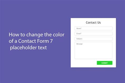 placeholder text color how to change the color of a contact form 7 placeholder