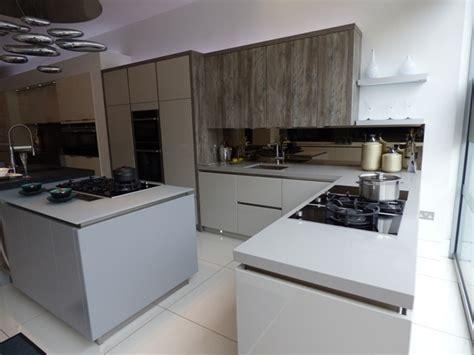 worktop for kitchen island ex display kashmir grey and melamine schmidt 1656