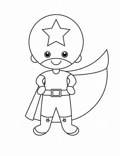 Superhero Coloring Super Hero Theme Draw Pages