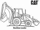 Coloring Backhoe Pages Construction Excavator Caterpillar Cat Drawing Hoe Loader Printable Machinery Sketch Printables Vehicles Lego Activities Popular sketch template