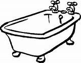 Coloring Tub Pages Bath Drawing Bathrooms Toilet sketch template