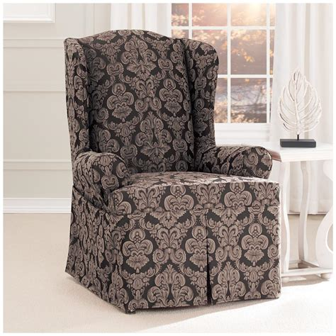 wing chair slipcovers sure fit middleton wing chair slipcover 581238