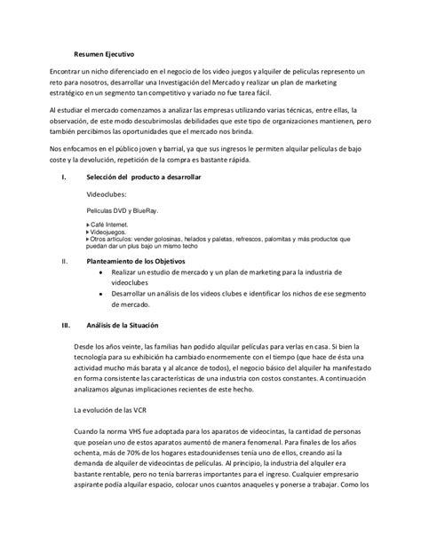Un Resumen De Trabajo by Trabajo Proyecto Clubes Un Negocio De Pelicula