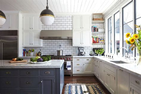 Urban Kitchens : White Subway Tile Kitchen Designs Are Incredibly Universal