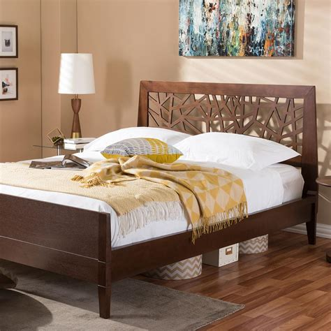 6134 baxton studio king bed baxton studio medium brown king platform bed