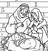 Jesus Coloring Pages Manger Joseph Mary Christmas Printable Precious Moments Getcolorings Getdrawings Birthday Happy Colorings Familyfriendlywork Guardado Desde sketch template