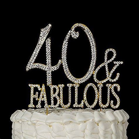 large rhinestone covered 40 40th 30 best 40 ans inchaallah images on birthdays