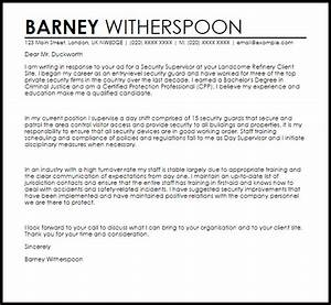 security supervisor cover letter sample livecareer With cover letter for site supervisor