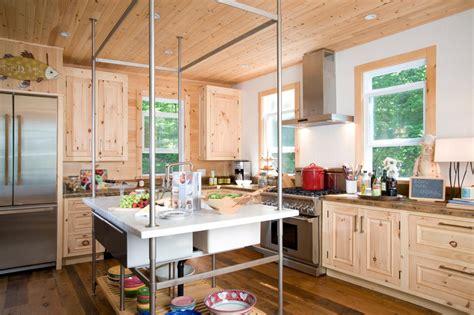 Rustic Cottage Kitchen With Modern Island Hgtv