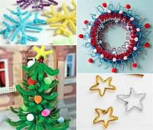 Bastelideen Weihnachten Erwachsene : basteln mit pfeifenputzer f r weihnachten 8 einfache diy ~ Watch28wear.com Haus und Dekorationen
