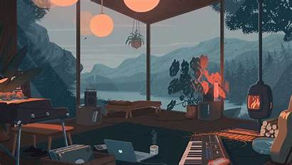 Fi Lo Cozy Rain Autumn Wallpapers Desktop