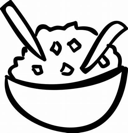 Rice Bowl Icon Clipart Sketch Vector Svg