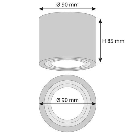 Feuchtraum Bad Aufbau Deckenspot Alu Gebürstet Ip44 Inkl