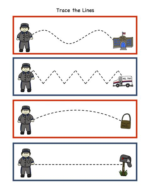 11541 community helpers pictures printables preschool printables community helper postman printable
