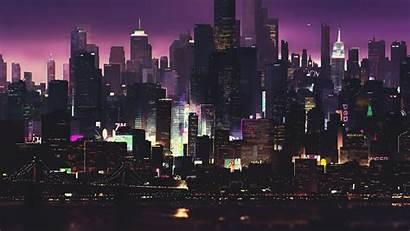 Cyberpunk 4k Night Buildings Cityscape Building Dark